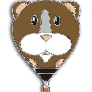 Guinea Pigg hot air balloon pin badge