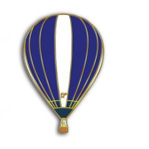 The squirrel hot air balloon pin badge G-ORNH