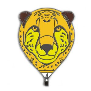 Special Shape Cheetah Balloon Pin