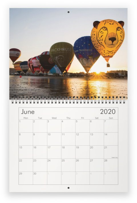 2020 Exclusive Ballooning Wall Calendar